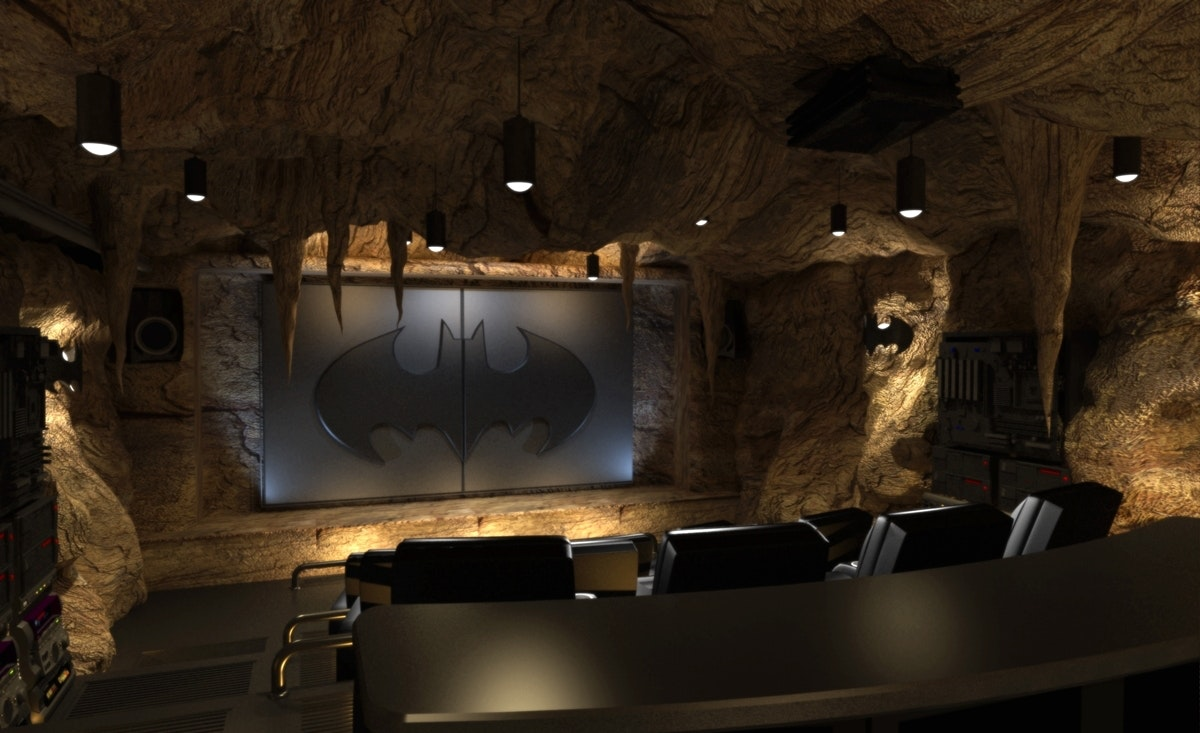 Movie Nights In The Bat Cave Place To Be Gotham City Design By Elite Hts