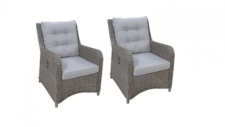 Atlantis Outdoor Reclining Armchair Set