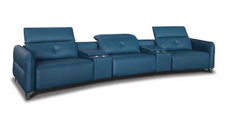 Century Leather 3 Seater Home Theatre Recliner Lounge