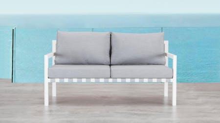 Klara White Outdoor Two Seater Sofa