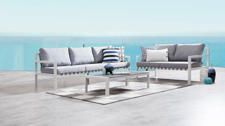 Klara White Outdoor Sofa Suite 3 + 2