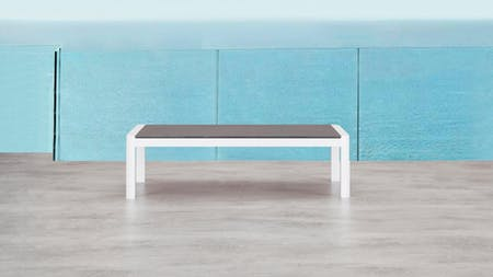 Klara White Outdoor Coffee Table