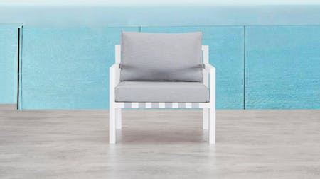 Klara White Outdoor Armchair