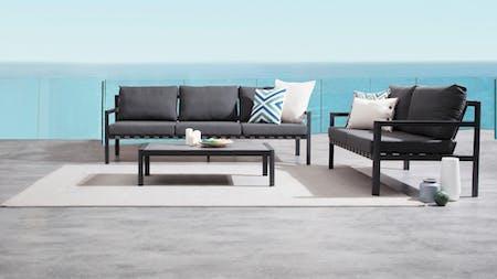 Klara Black Outdoor Sofa Suite 3 + 2