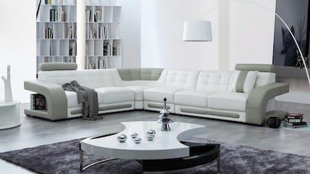Casanova Leather Corner Lounge Option B