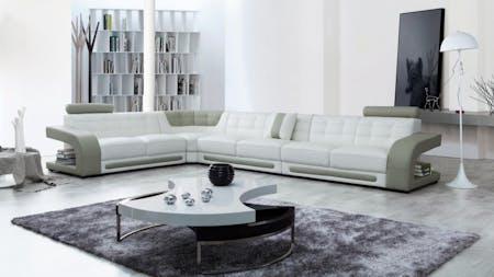 Casanova Leather Corner Lounge Option C