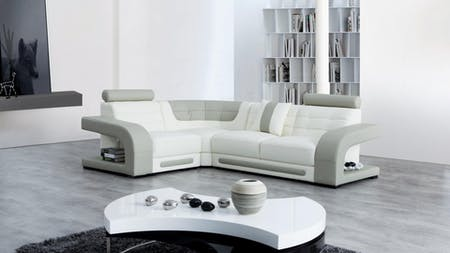 Casanova Leather Corner Lounge Option E