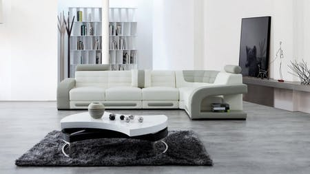 Casanova Leather Corner Lounge Option F