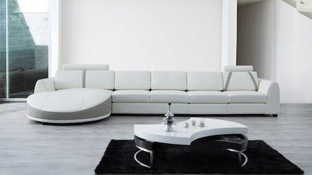 Messina Leather Chaise Lounge Option D