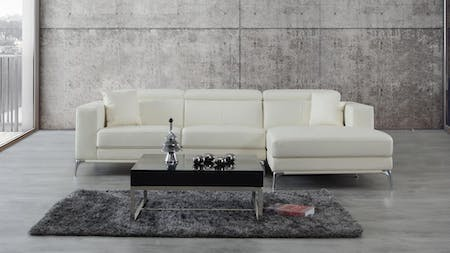 Club Leather Chaise Lounge Option A