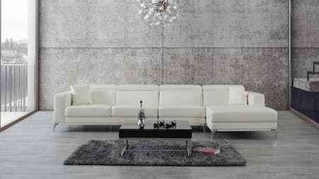 Club Leather Chaise Lounge Option B