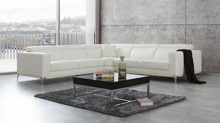 Club Leather Corner Lounge Option A