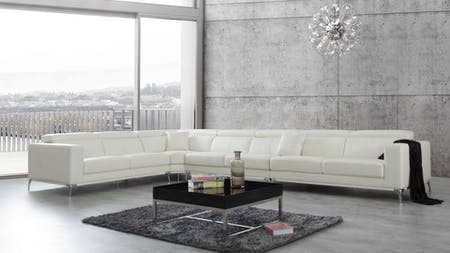 Club Leather Corner Lounge Option C