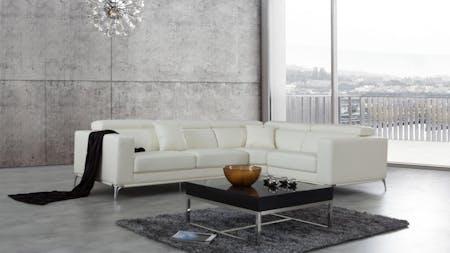 Club Leather Corner Lounge Option E
