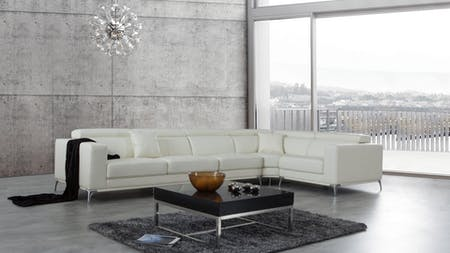 Club Leather Corner Lounge Option F