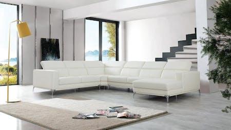 Club Leather Modular Lounge Option A