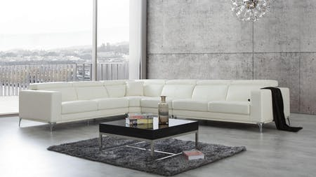 Club Leather Corner Lounge Option B