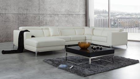 Club Leather Modular Lounge Option C