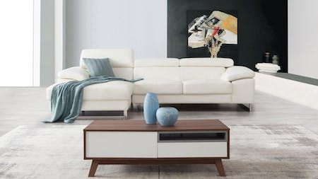 Boston Leather Chaise Lounge Option A