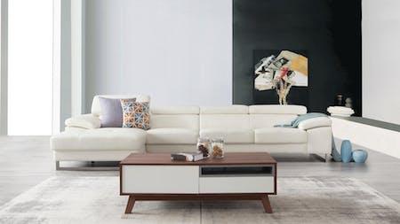 Boston Leather Chaise Lounge Option B