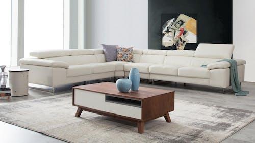 Boston Leather Corner Lounge Option B