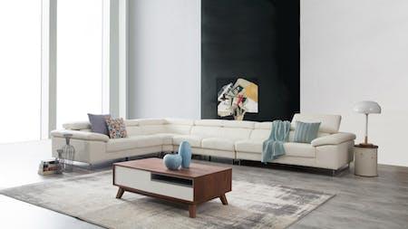 Boston Leather Corner Lounge Option C