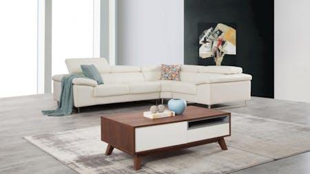 Boston Leather Corner Lounge Option E