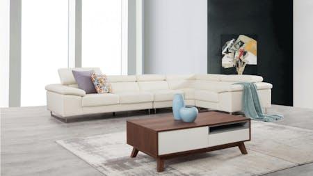 Boston Leather Corner Lounge Option F