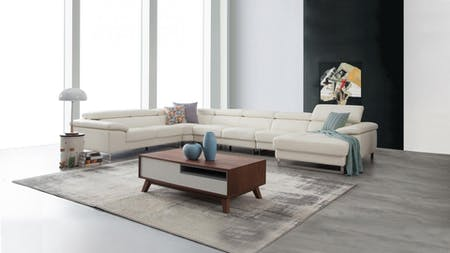 Boston Leather Modular Lounge Option B