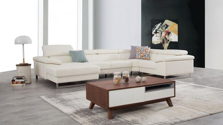 Boston Leather Modular Lounge Option C