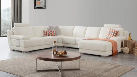 Romeo Leather Modular Lounge Option A