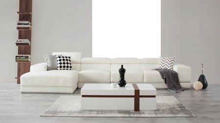 Napoleon Leather Chaise Lounge Option B