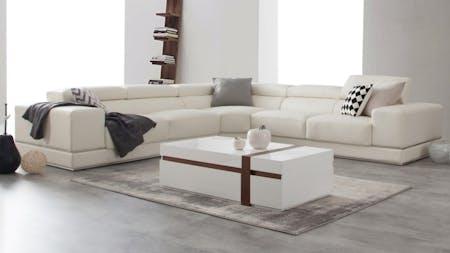 Napoleon Leather Corner Lounge Option A