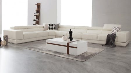 Napoleon Leather Corner Lounge Option C