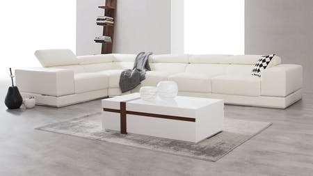 Napoleon Leather Corner Lounge Option F