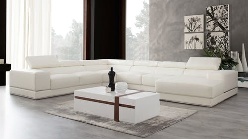 Napoleon Leather Modular Lounge Option A