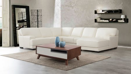 Volante Leather Modular Lounge Option A