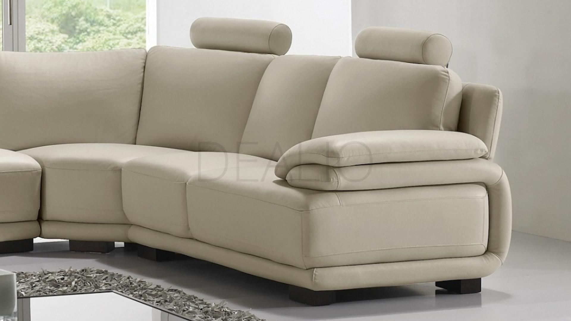 White Leather Corner Units: Juliet Leather Corner Lounge Option D