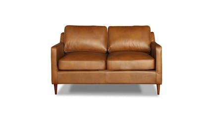 Oskar Leather Two Seater Sofa