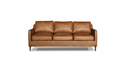 Oskar Leather Three Seater Sofa