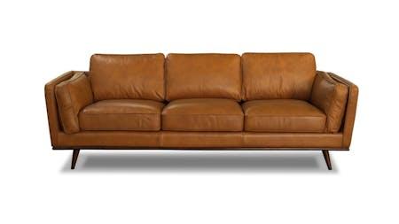 Sven Leather Three Seater Sofa