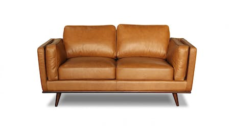 Sven Leather Two Seater Sofa