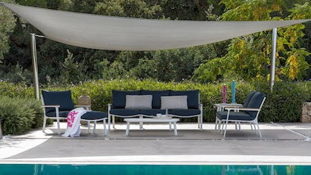 Venice Outdoor Sofa Suite 3+1+1 With Coffee Table