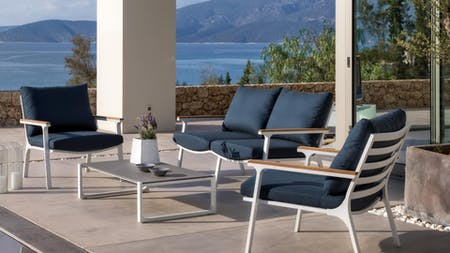 Venice  Outdoor Sofa Suite 2+1+1 With Coffee Table
