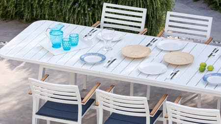 Venice 9-Piece Outdoor Extendable Dining Set