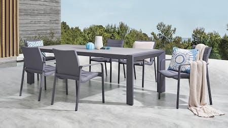 Santa Monica 7-Piece Outdoor Dining Set With Santa Monica Chairs