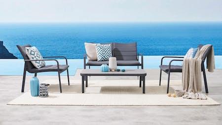 Santa Monica Outdoor Sofa Suite 2 + 1 + 1 With Coffee Table