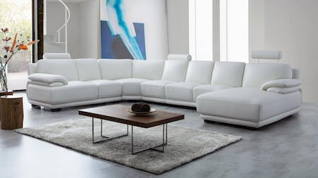 Juliet Leather Modular Lounge Option B