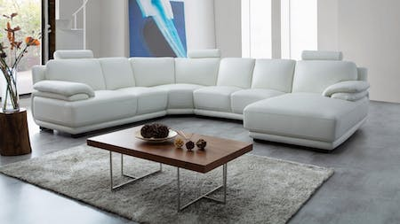 Juliet Leather Modular Lounge Option A