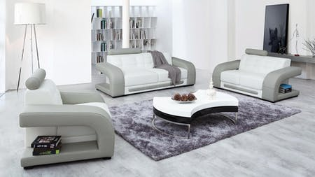 Casanova Leather Sofa Suite 3 + 2 + 1